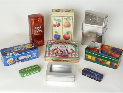 Illinois Decorative Tin Containers