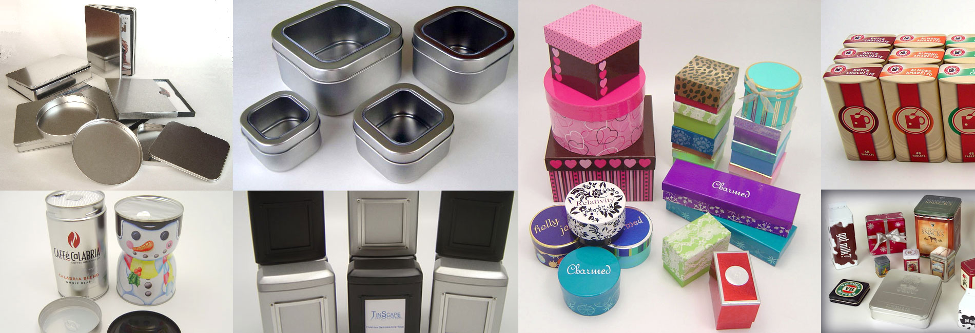 Custom Decorative holiday Tins & Paper Boxes